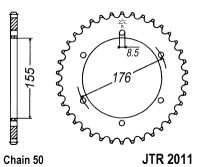 TRIUMPH SPRINT ST 955i 99-04 Rear Sprocket Sizes 43t 42t 44t